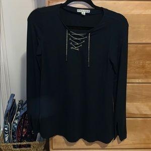 Tops - Laced long sleeve shirt